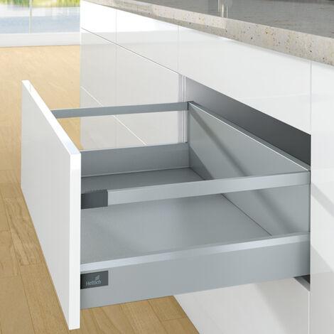 Kit tiroir casserolier avec bandeaux - hauteur 94 mm - arcitech - HETTICH