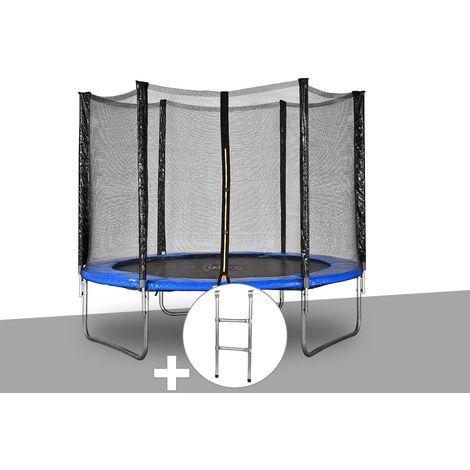 Kit trampoline Jardideco Atlas Ø 2,44 m Bleu + Echelle