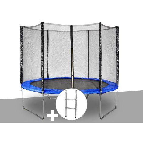 Kit trampoline Jardideco Hélios Ø 3,05 m Bleu + Echelle