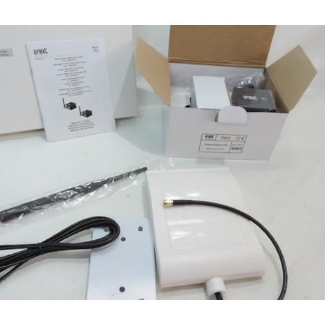 Kit transmission radio 1 caméra portée 100m fréquence 2.4GHz 4 canaux extérieur avec alim 230V URMET 1099/1017