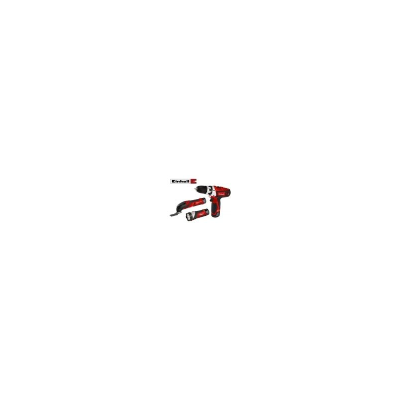 Kit Trapano avvitatore Multitool//Multiutensile//Levigatrice//Smerigliatrice triangolare Lampada 12V TE-TK 12 Li