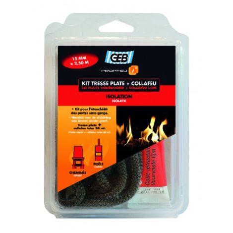 Kit tresse plate en fibre de verre et collafeu - GEB : 821594