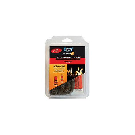 Kit tresse plate en fibre de verre et collafeu l10mm - GEB : 821593