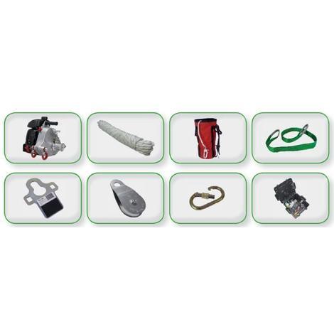 Kit treuil portable de tirage en souterrain avec corde de 100 M