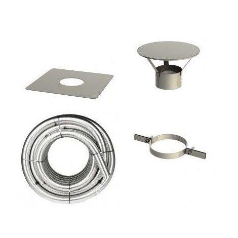 Kit Tubage flexible inox et accessoires pour appareils à bois