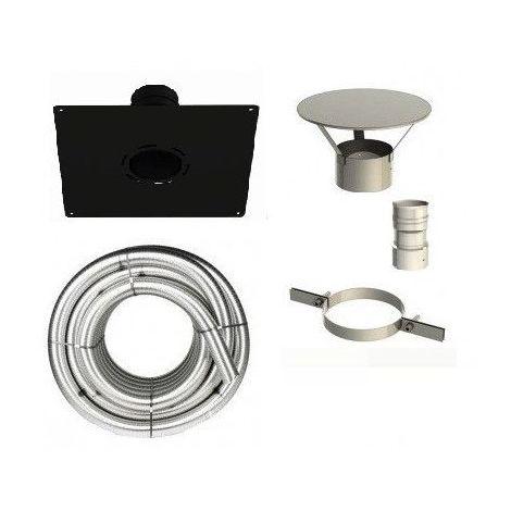 Kit Tubage flexible inox et accessoires pour appareils a granulés