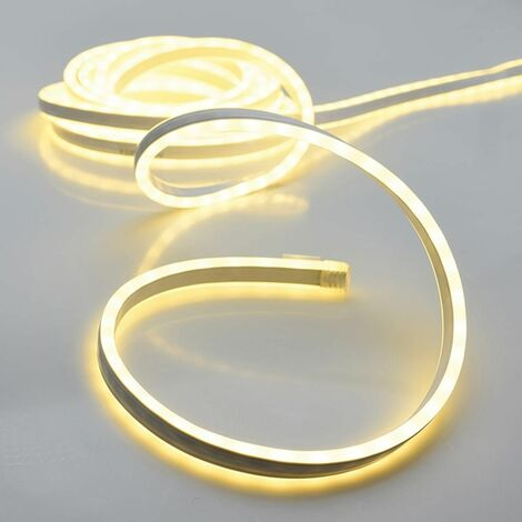 KIT TUBE LED NEON 5M 120 LED BLANC CHAUD 220-240V