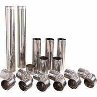 Kit tubes de gaz d'echappement inox 130 mm avec chemisage mural