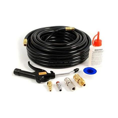 Kit tuyau BOSTITCH à air comprimé + soufflette + accessoires - CPACK15