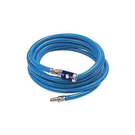 Kit tuyau flexible avec coupleur à bouton-poussoir 6,3x2,35mm 10m bleu RIEGLER 1 PCS