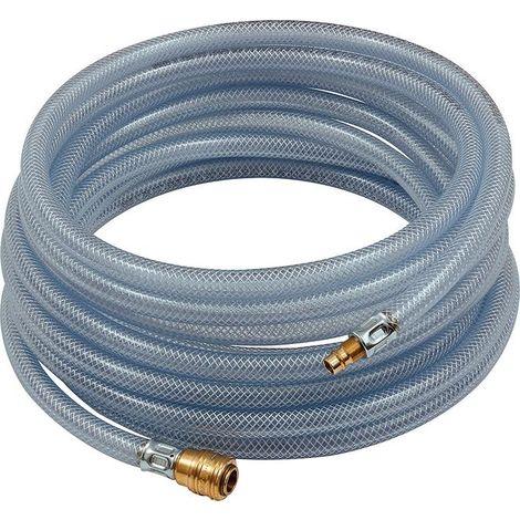 Kit tuyau flexible PVC avec coupleur et connecteur 10m 9x3mm transparent RIEGLER 1 PCS
