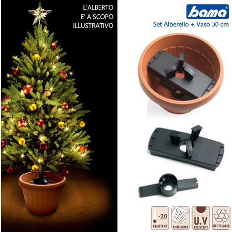 Kit Vaso 30 cm Sostegno Per Albero Di Natale ALBEROBELLO Bama Terracotta