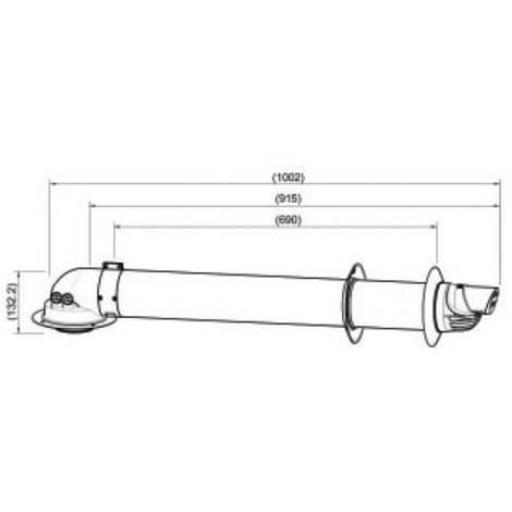 Kit Ventouse Saunier Horizontal Gammes ISO Condensation Thema F24 30E F30