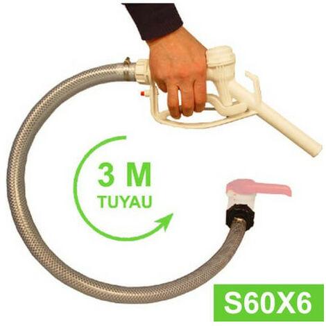 Kit Vidange cuve eau 1000 L S60X6 - Tuyau 3 m + Pistolet