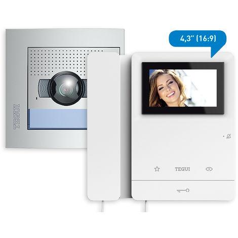 Kit video 2 viviendas 2hilos, placa SFERA NEW y 2 monitores color