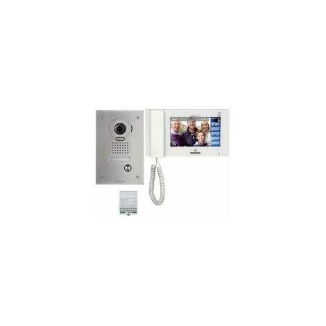 Kit vidéo couleur antivandale avec zoom & mémoire, platine encastrée - AIPHONE - - JPS4AEDF.