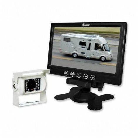 Kit vidéo de recul avec caméra blanche & écran LCD 7'' 180.36