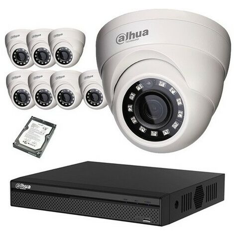Kit Vidéo Surveillance Hd Cvi 8 Dômes 1080p