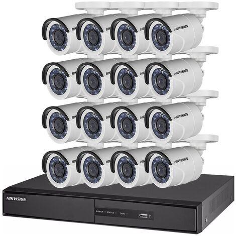 Kit video surveillance Turbo HD Hikvision 16 caméras bullet N°2 - {couleurs}