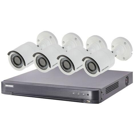 Kit video surveillance Turbo HD Hikvision 4 caméras bullet - {couleurs}