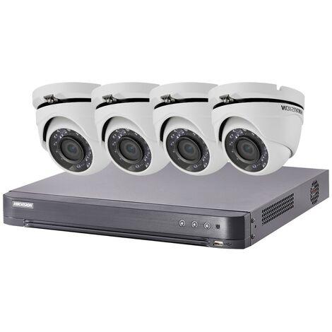 Kit video surveillance Turbo HD Hikvision 4 caméras dôme - {couleurs}