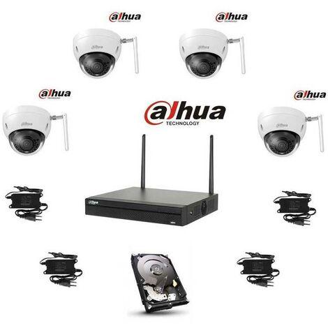 Kit video wifi dahua 4 domes 4mp