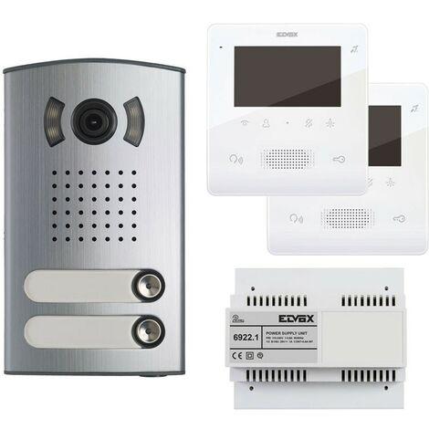Kit Vidéophone à deux appartements Elvox 2 Fils avec Tab 4,3 mains libres 7558/E2