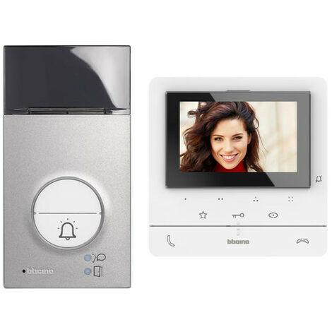 Kit vidéophone pour porte Bticino CLASSE100 V16E 2 fils unifamilial 364612