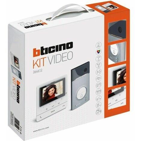 Kit Videoportero superficie 2 hilos Bticino Linea 3000 con monitor CLASSE100V16E Basico 364612