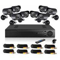 Kit videosorveglianza 8 telecamere CCTV DVR h.264 led infrarossi z210C