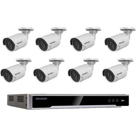 Kit videosurveillance 8 caméras compactes - Hikvision - HIK-KITNVR8BULL-001 - Blanc