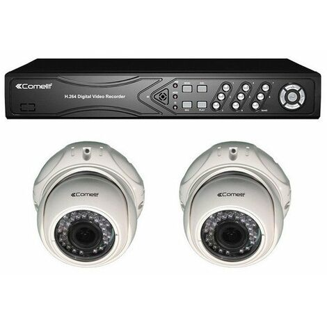 Kit vidéosurveillance Full-HD numérique 2 caméras IP d'intérieur