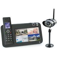 Kit vidéosurveillance + téléphone DECT, 1 caméra, 1 caméra