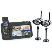 Kit vidéosurveillance + téléphone DECT, 2 caméras, 2 caméras