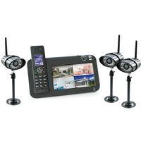 Kit vidéosurveillance + téléphone DECT, 3 caméras, 3 caméras