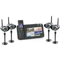 Kit vidéosurveillance + téléphone DECT, 4 caméras, 4 caméras