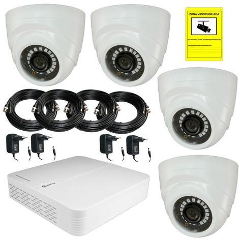 Kit Videovigilancia Cctv - Dvr 1 de 1 Tera Byte Con 4 Cámaras 720P incluye cables y alimentadores Kit-cctv-1