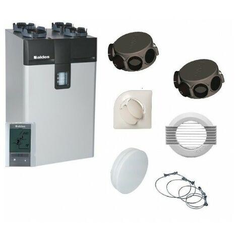 Kit VMC double flux Dee Fly Cube 300 HE IHM + accessoires