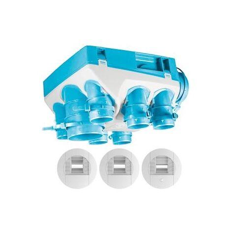 Kit VMC hygroréglable Ozeo 2 KHB pour logement T3/7 (602711)