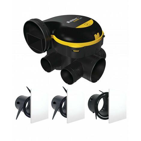 Kit VMC simple flux autoréglable - EasyHOME AUTO ALDES - 11026032 KIT EasyHOME AUTO
