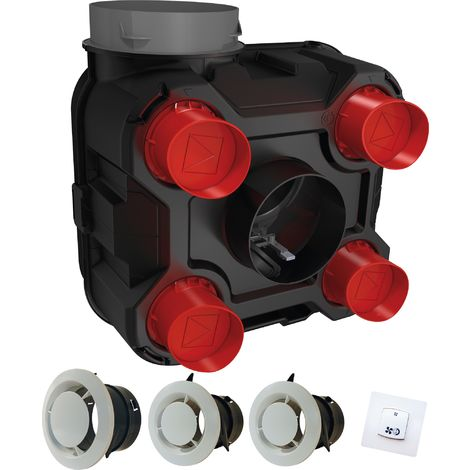 Kit VMC simple flux basse consommation Hygrovariable DMO - Logement de 2 à 7 pièces