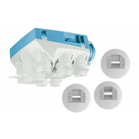Kit VMC simple flux hygroréglable + bouton poussoir + gaines OZEO ECOWATT 2 KHB T3/7 P