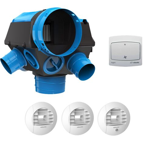 Kit VMC simple flux hygroreglable + bouton poussoir - HYGROCOSY BC ATLANTIC - 412294BP