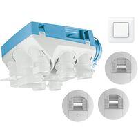 Kit VMC simple flux hygroréglable + bouton poussoir - OZEO ECOWATT 2 KHB T3/7 P UNELVENT - 604611BP Kit OZEO ECOWATT 2 avec bouton poussoir pour bouche cuisine