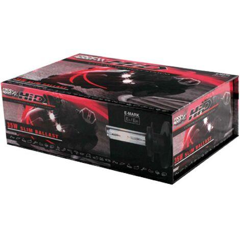 Kit Xenon HID - 2 ampoules H1 - 35W - 6500K - Ballast Slim - Moto