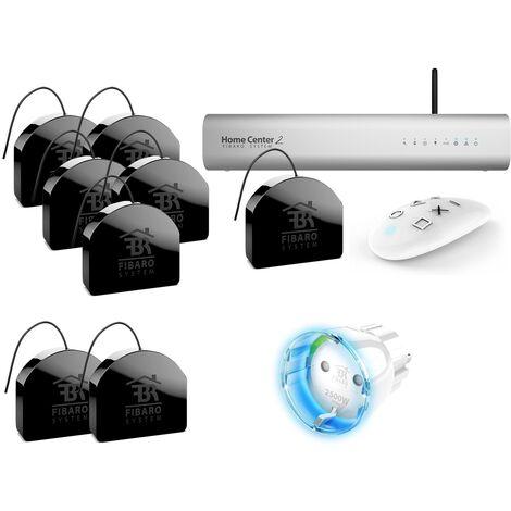 Kit Z-Wave box domotique Home Center 2 - Pilotage volets roulants / éclairage / prise - Fibaro - {couleurs}