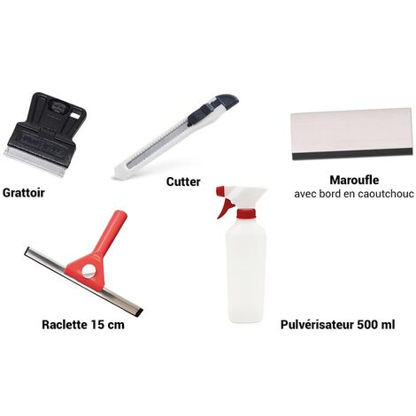 KITbat - Kit de pose de films pour vitrage (collé et static) (Kit-bat)