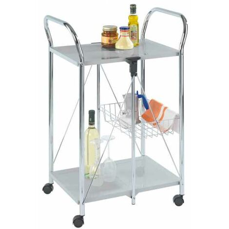 Kitchen and utility trolley Sunny silver WENKO