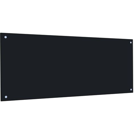 Kitchen Backsplash Black 120x50 cm Tempered Glass