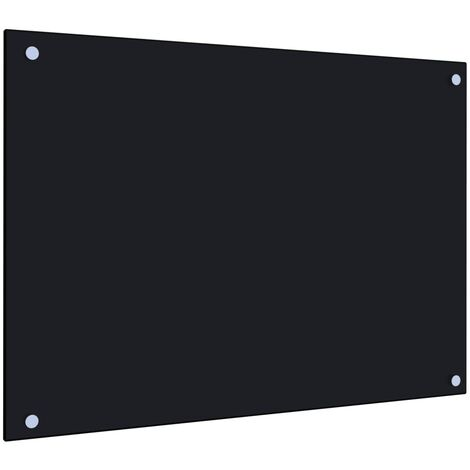 Kitchen Backsplash Black 70x50 cm Tempered Glass